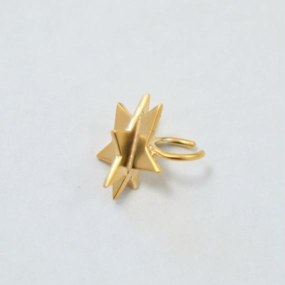 Star ear cuff (cubic star/gold)