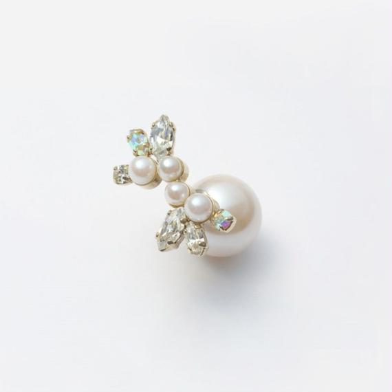 bijoux pierce (pearl×swarovski / large)
