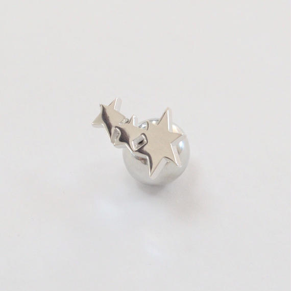 3 star pierce (small/ silver)