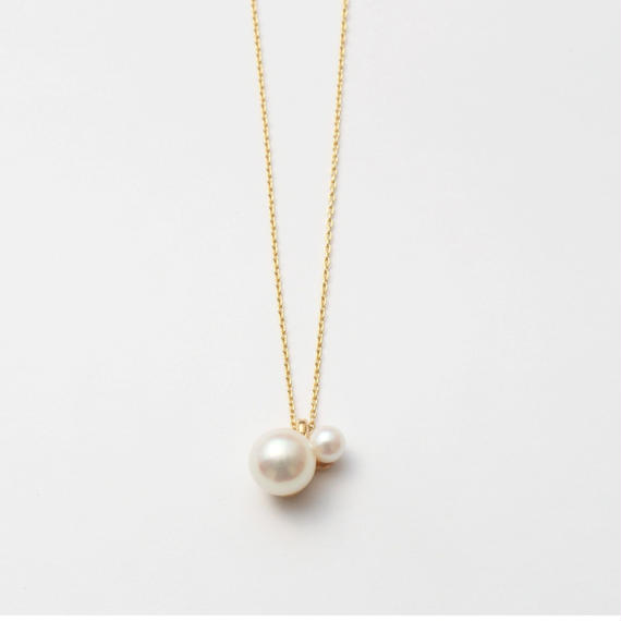 pearl rivets  necklace (K10)