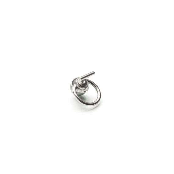 hoop catch pierce (10mm bar / 16mm hoop / silver)