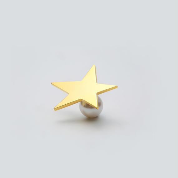 star pierce (large / gold)
