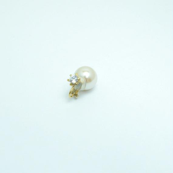 cubic zirconia earing(large/gold)