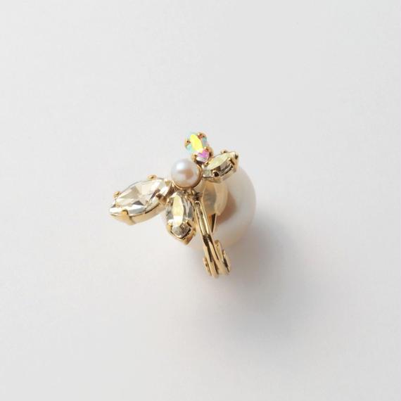 bijou 4 crystals, pearl earring (Crystals , Pearl Mix)