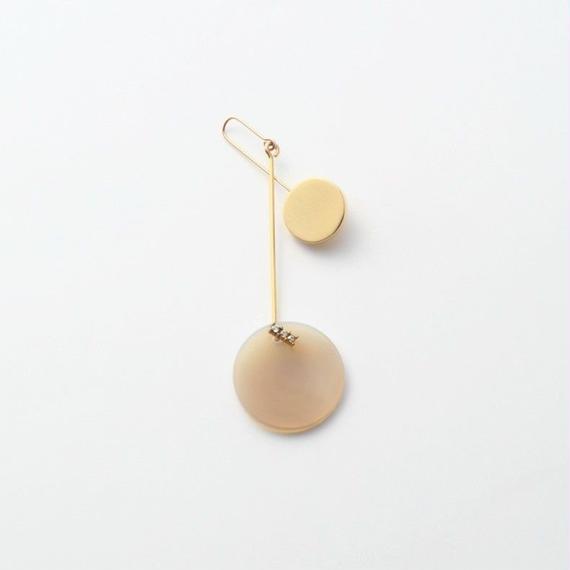 23mm gray agate / k10 post pierced earring