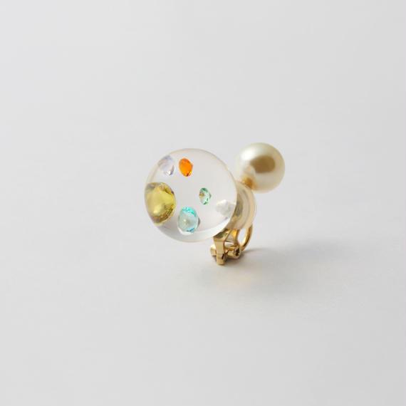 inclusion earring(5 pieces cubic zirconias / multi color)