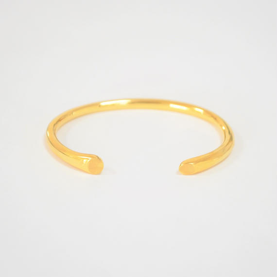 【ORDER】signet bangle (gold / silver925)