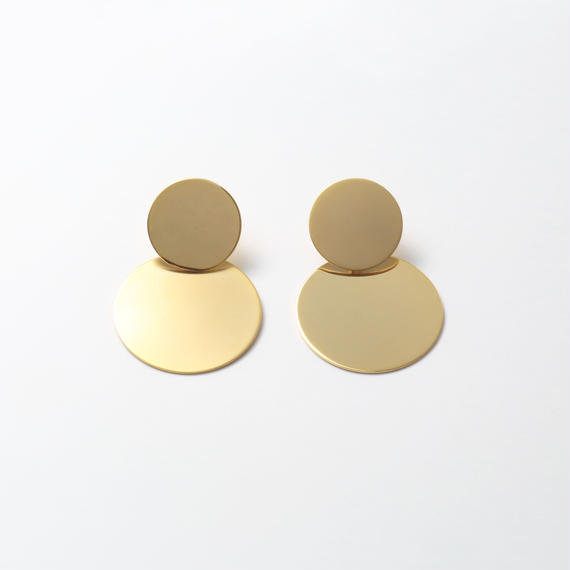 big circle set earring (mat gold/shine gold)
