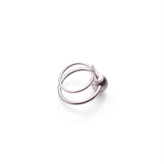 hoop catch pierce (circle / 24mm hoop / silver)