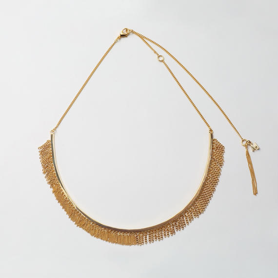 Fringe Necklace(Round type/Gold)