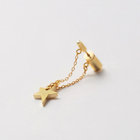 shine star pierce (cubic zirconia / K10 post / shine star)