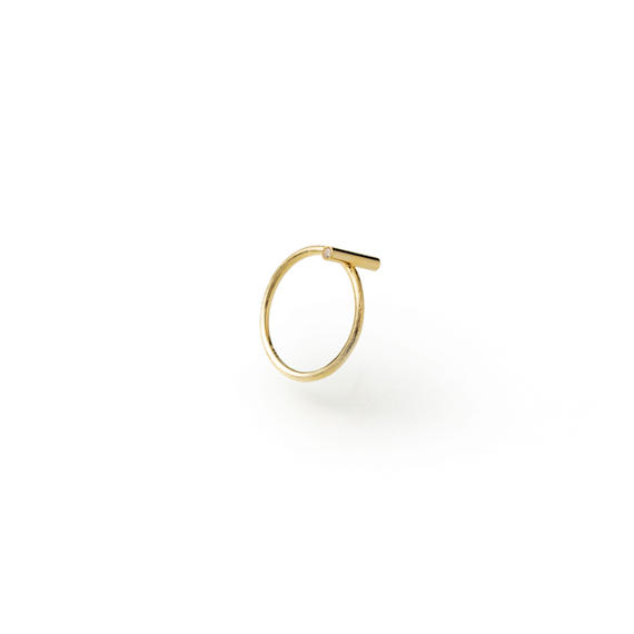 bar ring (10mm bar / gold)
