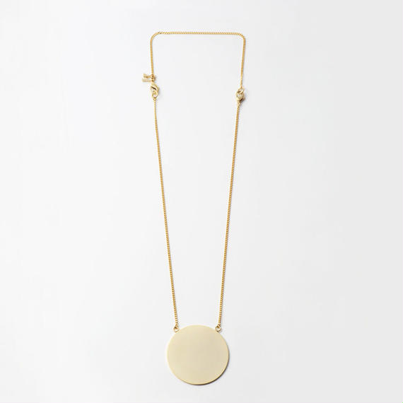 moon necklace (40mm / mat×mirror gold)
