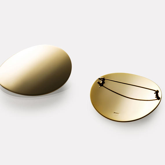 moon broach (60mm / mirror gold)