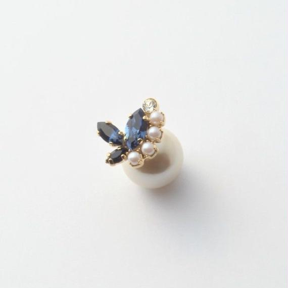 PEARL RIVETS  bijou  3 crystals , pearl(Indigo Blue , Pearl Mix)