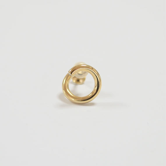 tiny circle earring (gold)