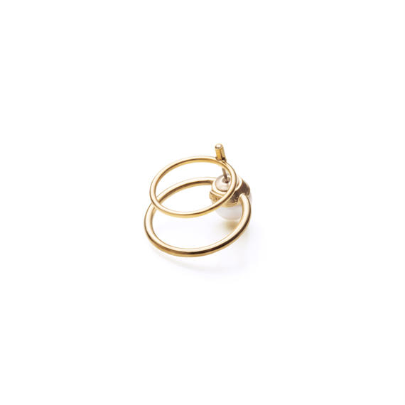 hoop catch pierce (circle / 24mm hoop / gold)
