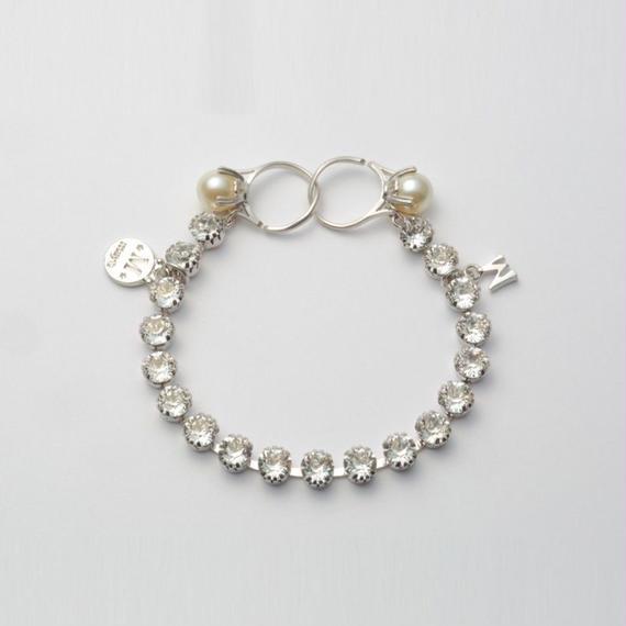 swarovski cut glass bracelet (silver)