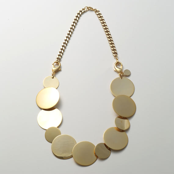 big circle necklace  (mat gold / shine gold)
