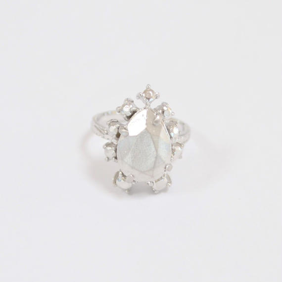 metal stone ring (silver / silver925)