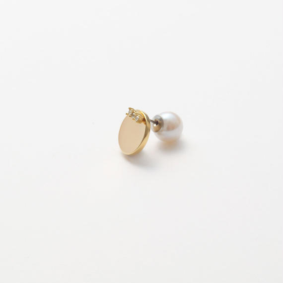 8mm gold circle pierce