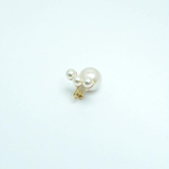 three pearl earing(large)