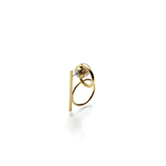 hoop catch pierce (bar+circle / 16mm hoop / gold)