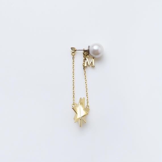 star pierce (cubic star / long / gold)