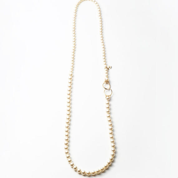pearl necklace (6mm×8mm pearl / 80cm)