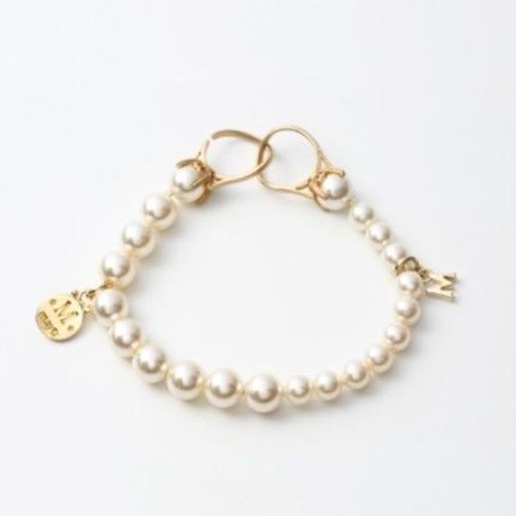 Pearl bracelet (6mm × 8mm pearl / white)
