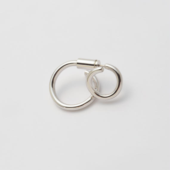 Silver line pierce(8㎜ line×19㎜ line/swarovski elements/Silver)