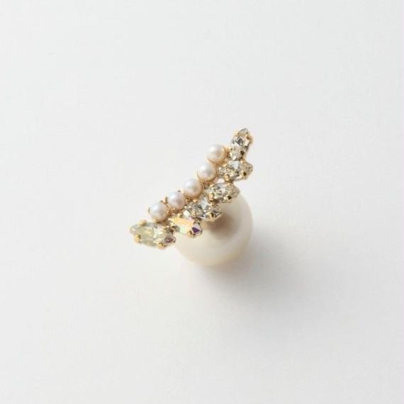 PEARL RIVETS bijoux  6 Crystals,  5 pearls