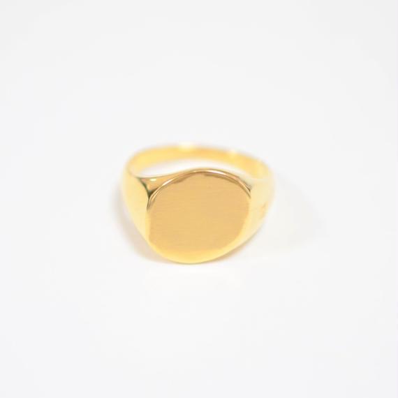 signet ring (diagonal / gold / silve925 )