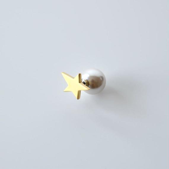 star pierce (small / gold)