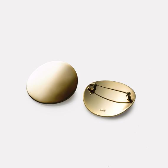 moon broach (40mm / mirror gold)
