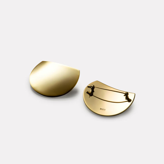 moon broach (40mm three quarter moon/ mirror gold)