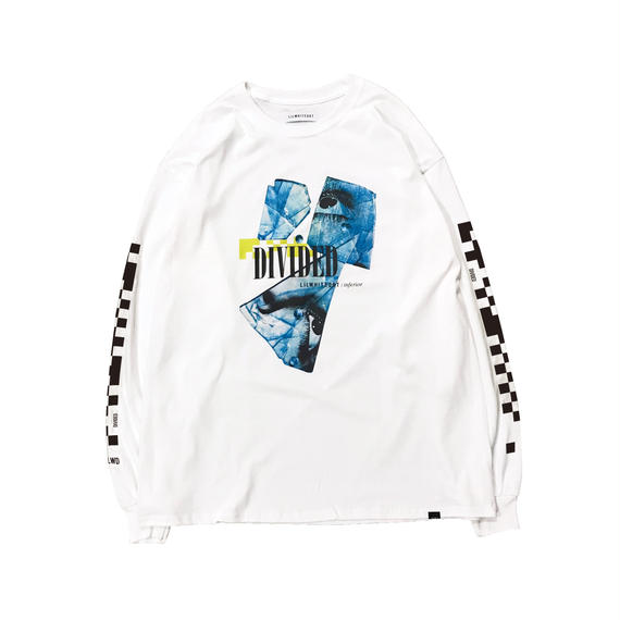 -DIVIDED- L/S TEE (WHT)