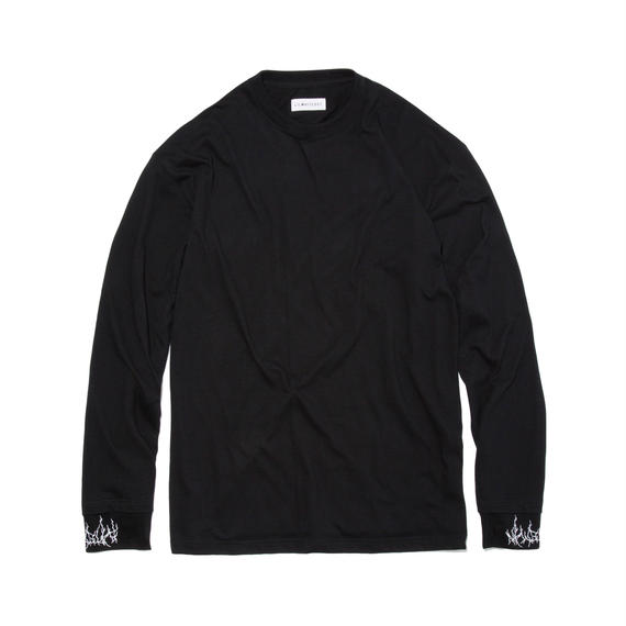 -DIRT- LAYERED LONG SLEEVE TEE (BLK)