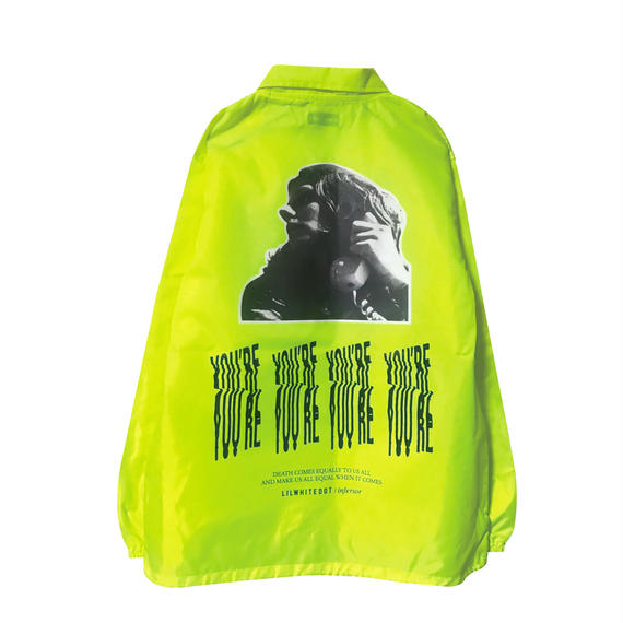 -HOLD ON- COACH JKT (LIME)