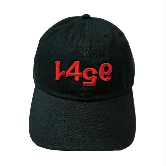-RAGE- LOW CAP (BLK×RED)