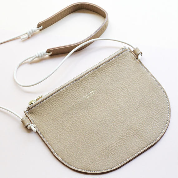"""leather musette bag""beige"