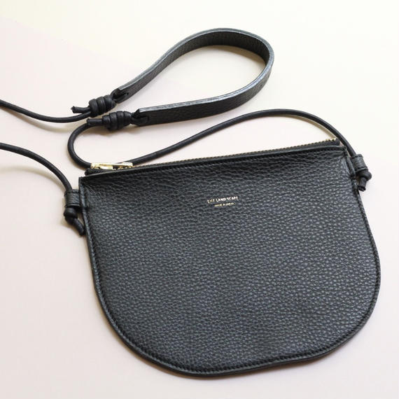"""leather musette bag""black"