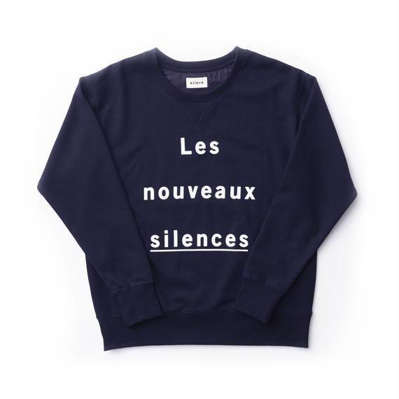 「SILERS」nouveaux crewneck sweatshirt Navy