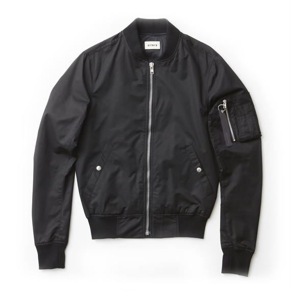 「SILERS」MA-1 bomber jacket Black