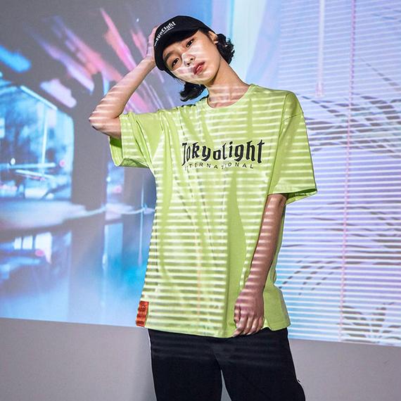 「DPSC」Tokyo Light Logo T-Shirt Lime