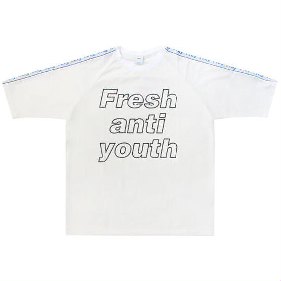 [Fresh anti youth] Mesh 3/4 T-Shirts - White