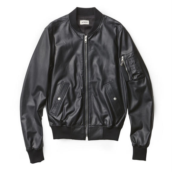 「SILERS」LEATHER MA-1 BOMBER JACKET(EXCLUSIVE)