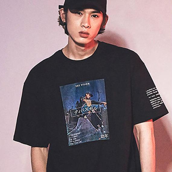 「DPSC」Skateboard T-Shirt Black
