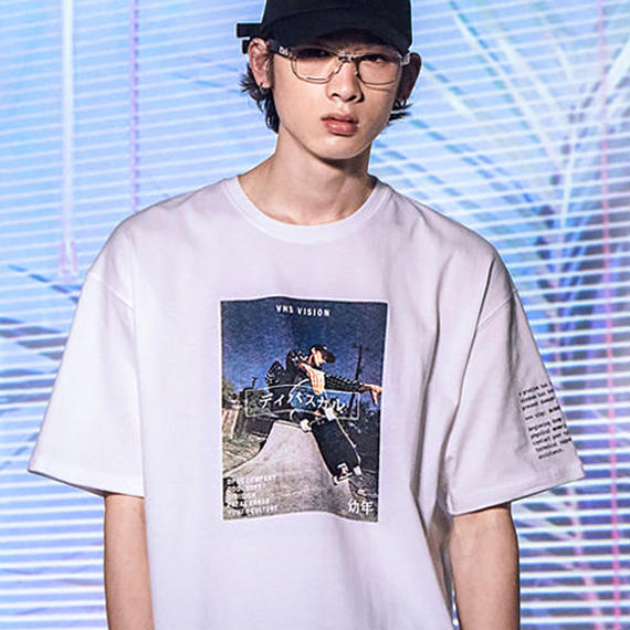 「DPSC」Skateboard T-Shirt White