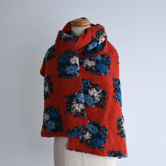 vintage Reversible Floral Wool Stole